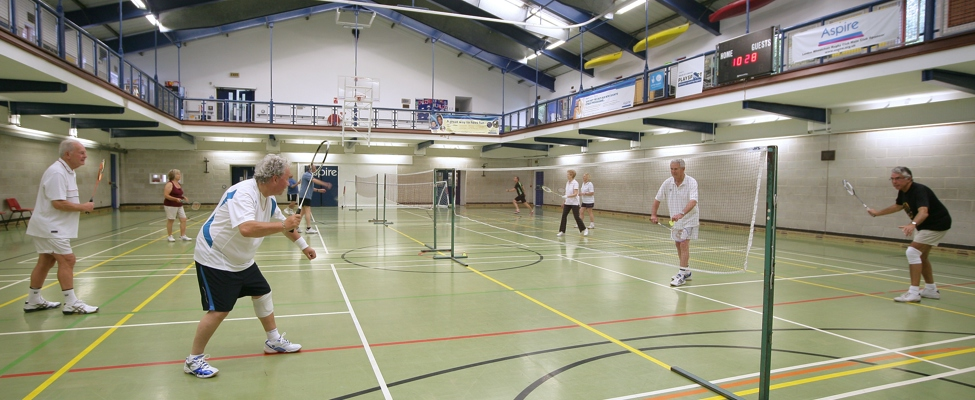 Badminton in the sports hall